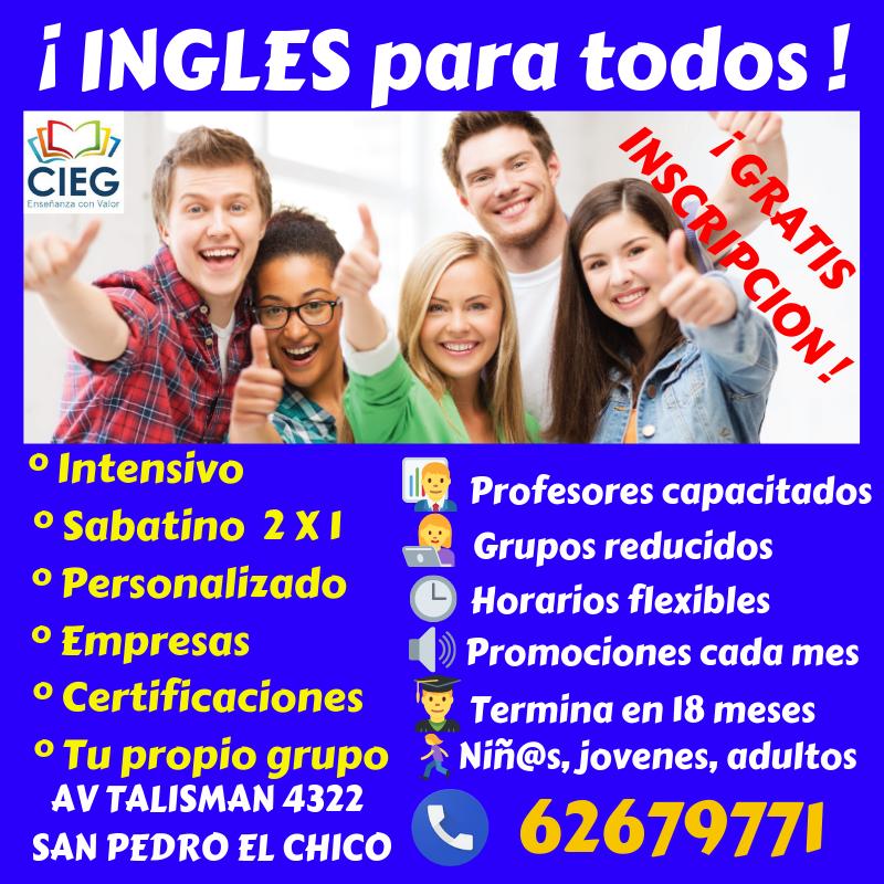 ¡ INGLES, GRATIS INSCRIPCIÓN !