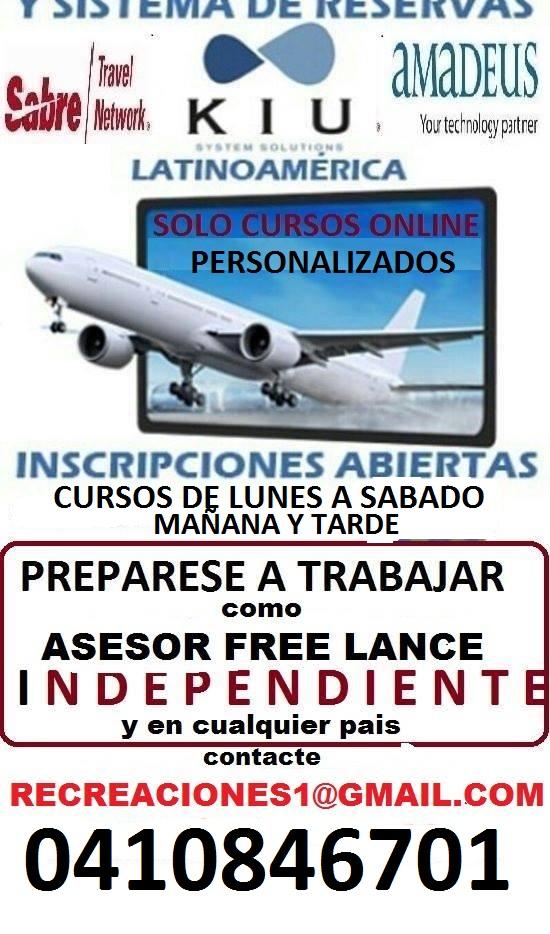 CURSO BASICO RESERVAS AGENTE FREE LANCE TURISMO