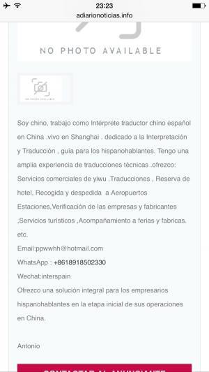 Intérprete Traductor Guía Chino Español En China