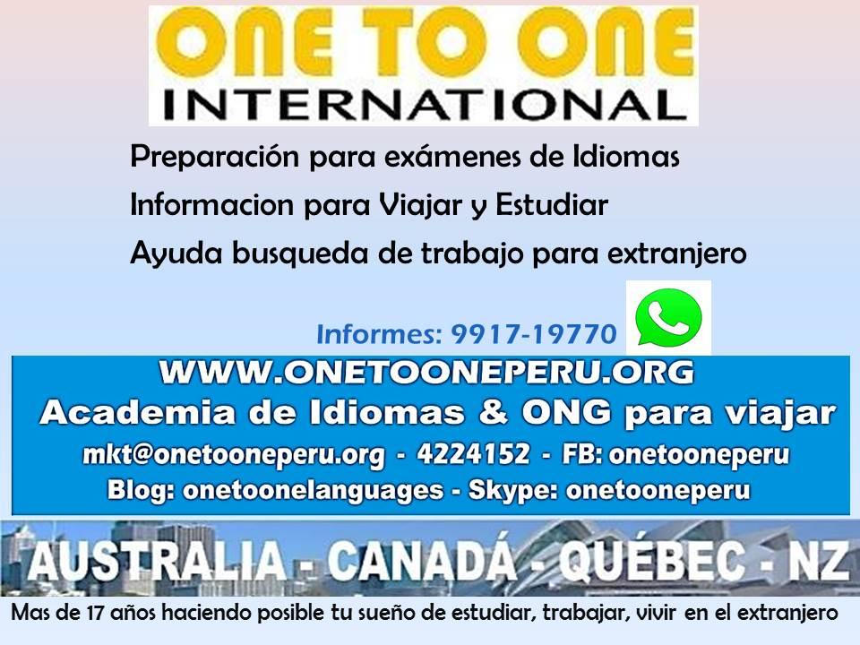 TOEFL  IELTS  EN SAN ISIDRO  CENTRO FINANCIERO