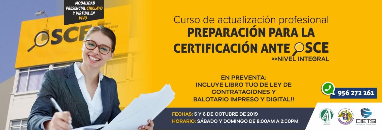 CURSO DE PREPARACIÓN PARA LA CERTIFICACIÓN ANTE OSCE 2019 NIVEL INTEGRAL (NUEVO)