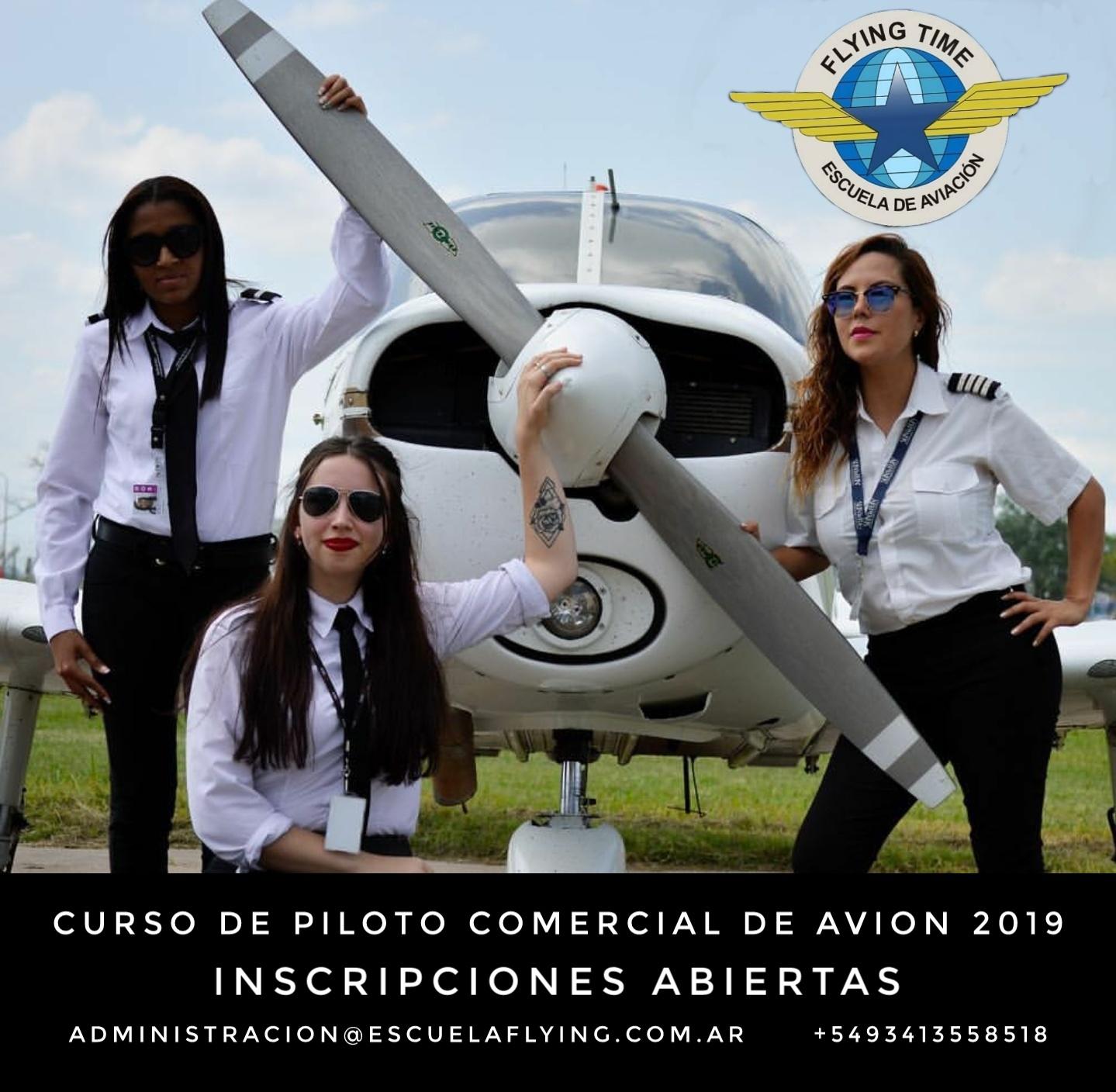 Piloto Comercial, azafata, auxiliar de vuelo
