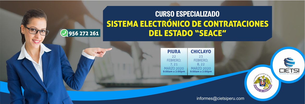 CURSO ESPECIALIZADO SISTEMA ELECTRÓNICO DE CONTRATACIONES DEL ESTADO SEACE 2020 (NUEVO)