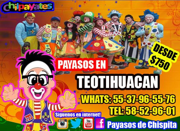 ALGARABÍA REGALOS PAYASOS SHOW EN TEOTIHUACAN