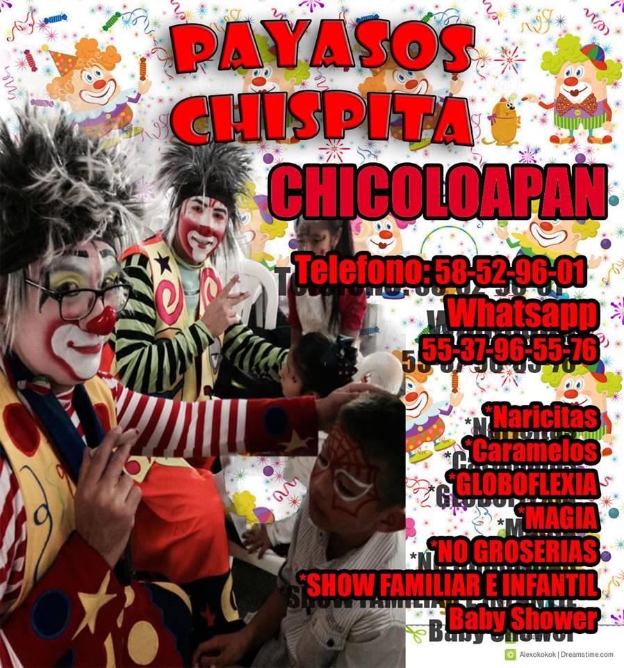 DINÁMICAS REGALOS SHOW DE PAYASOS EN CHICOLOAPAN