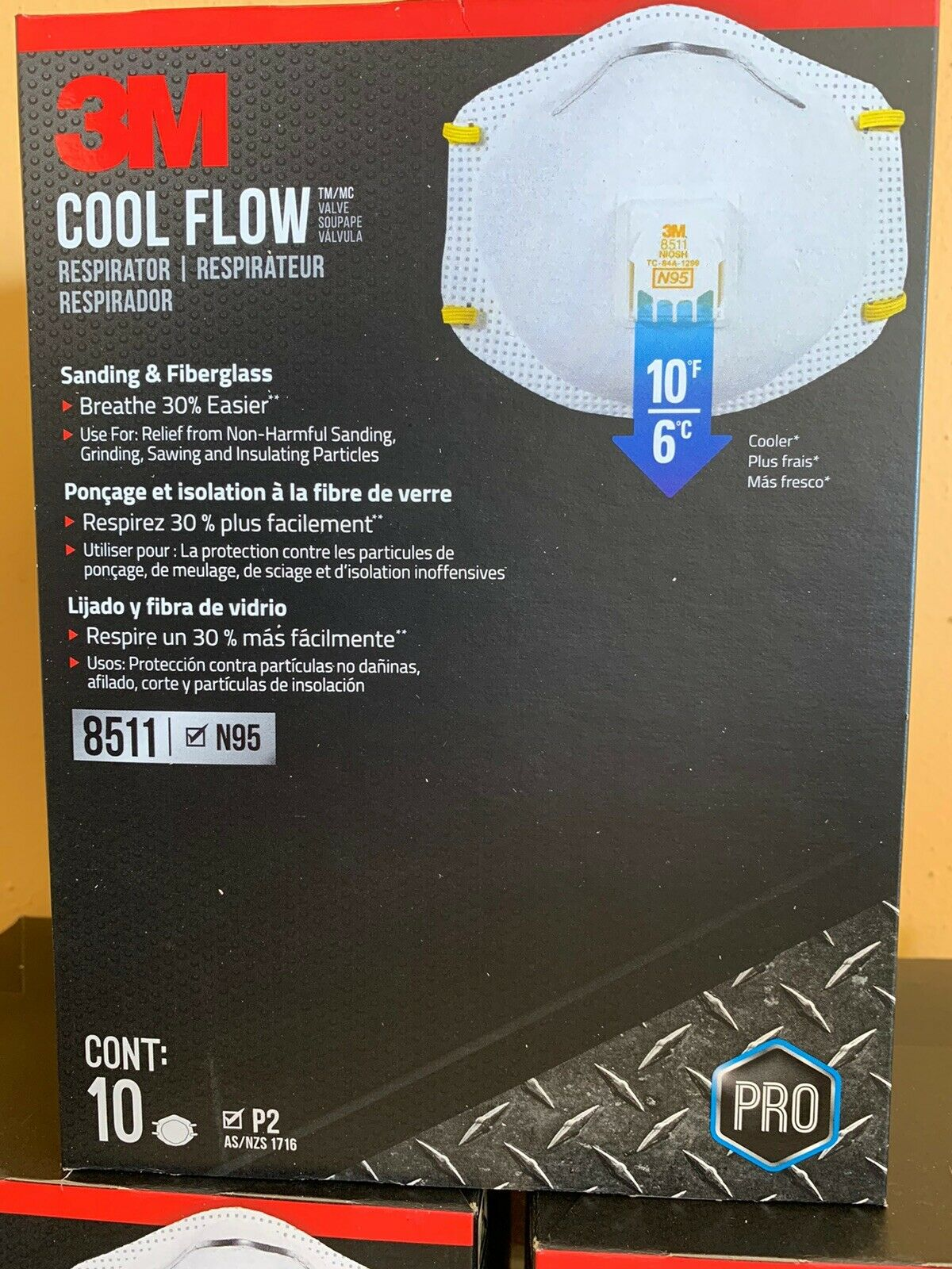 For Sale 3M 10-Pack Cool Flow Respirator/Same day Fast shipping