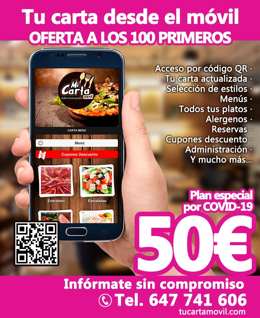 Tu carta movil con QR